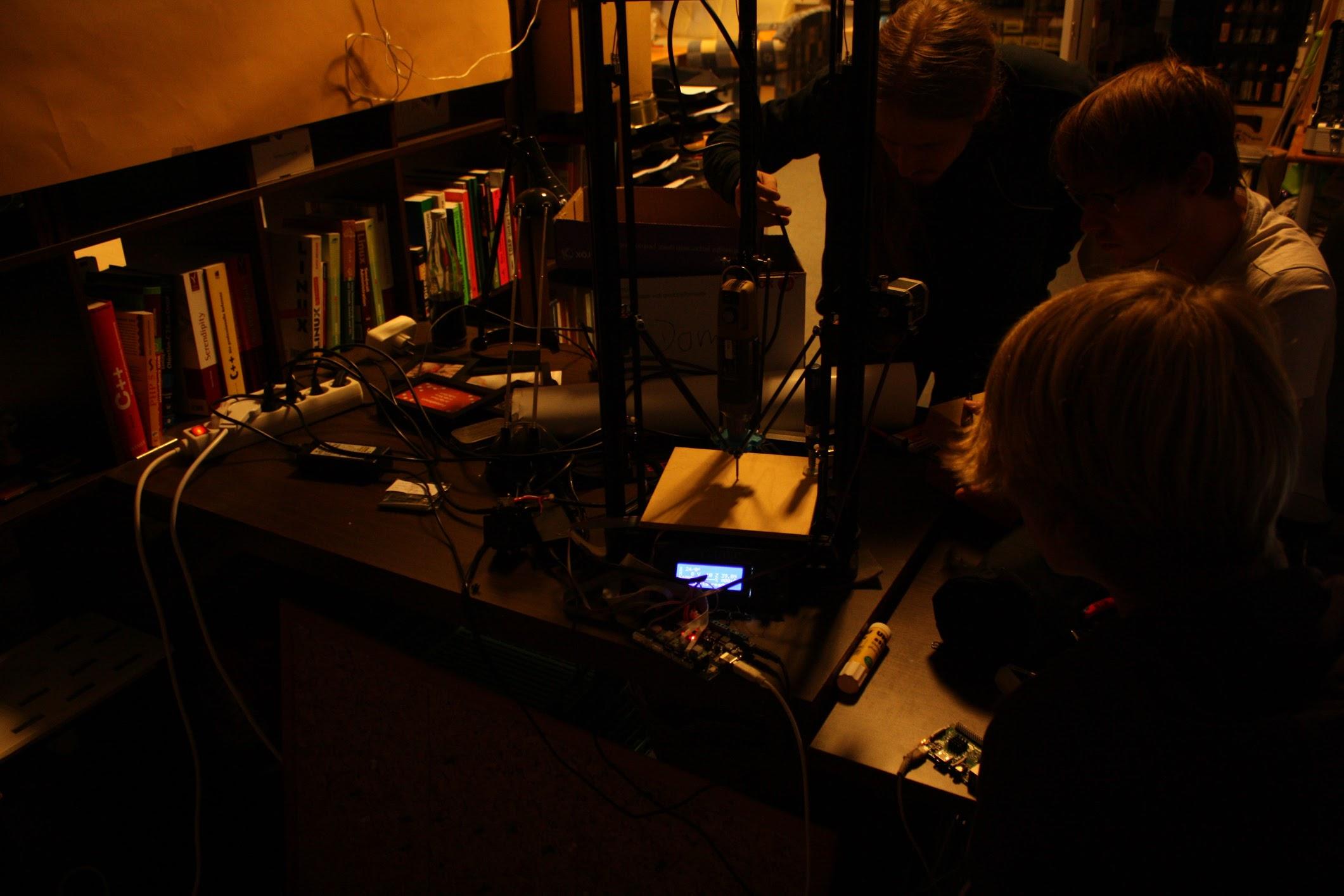 Experimente mit einem 3D-Drucker