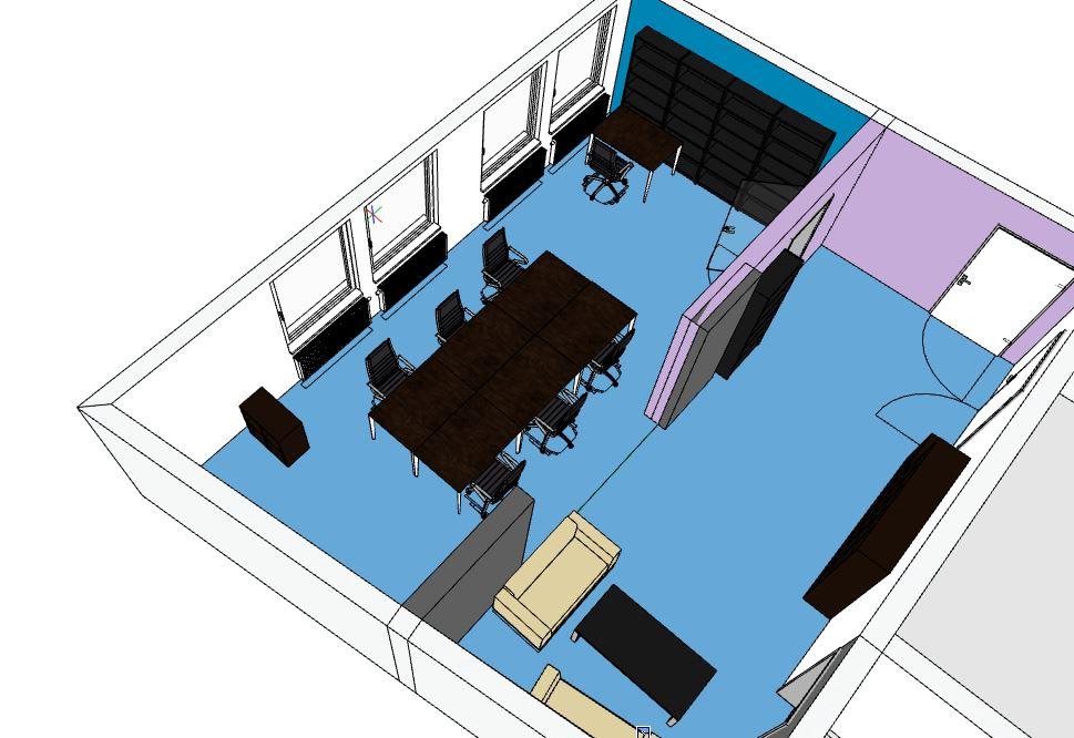 Die Tische können mittig zusammengestellt werden, um eine angenehme Atmosphäre für besprechungen, Stammtische oder das Plenum zu erzeugen.