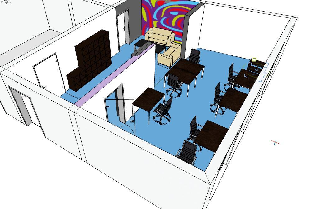 Für Workshops oder andere Veranstaltungen können die Tische außenandergezogen werden
