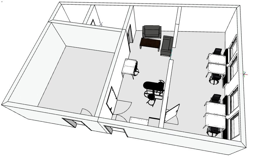 3D Darstellung der zukünftigen Räumlichkeiten