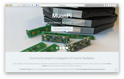 MuonPi Website
