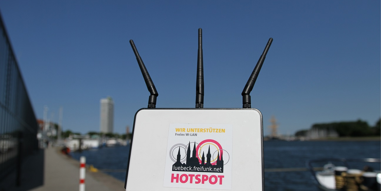 Freifunk am Terminal in Travemünde