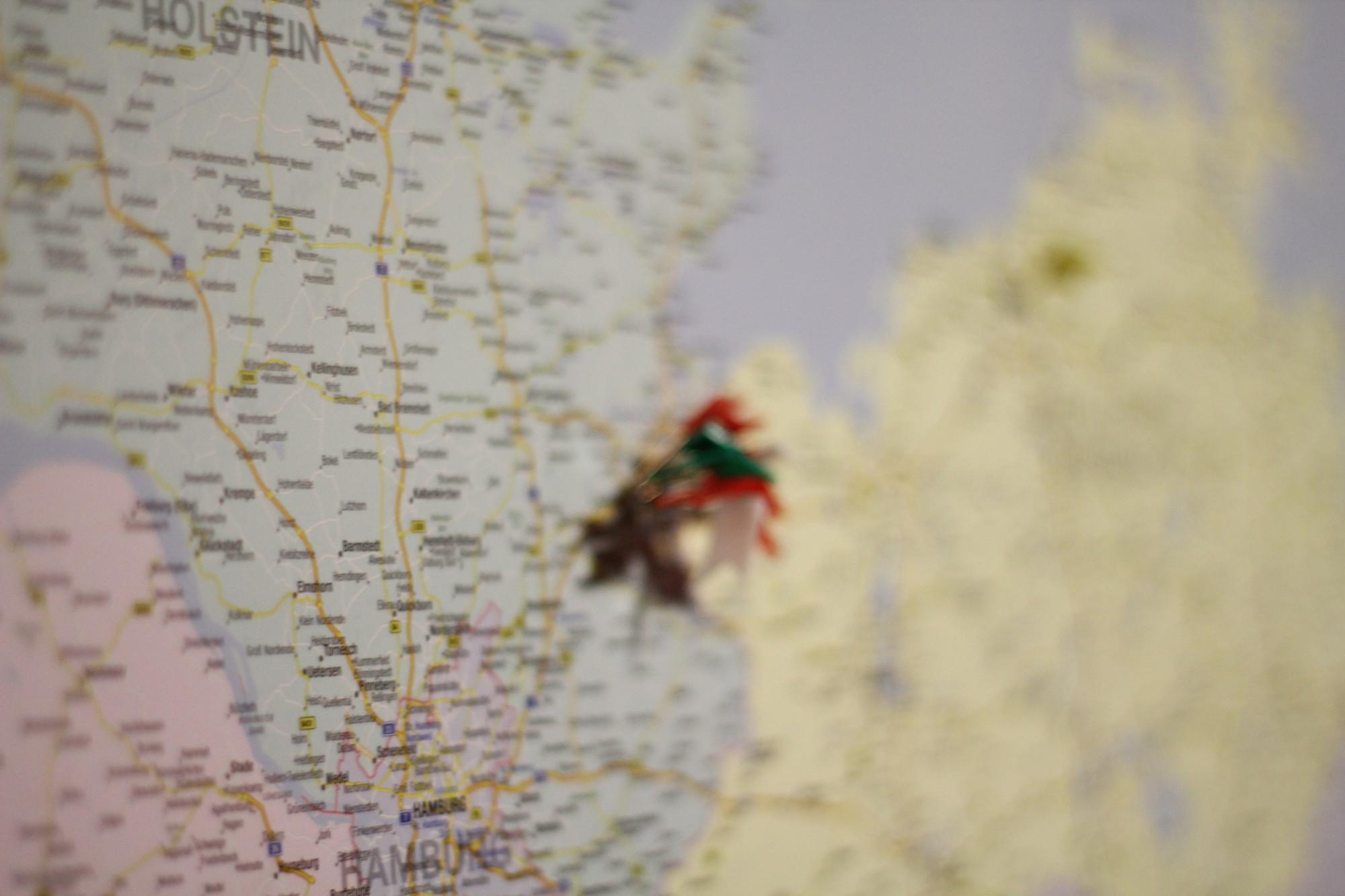Karte mit Pins