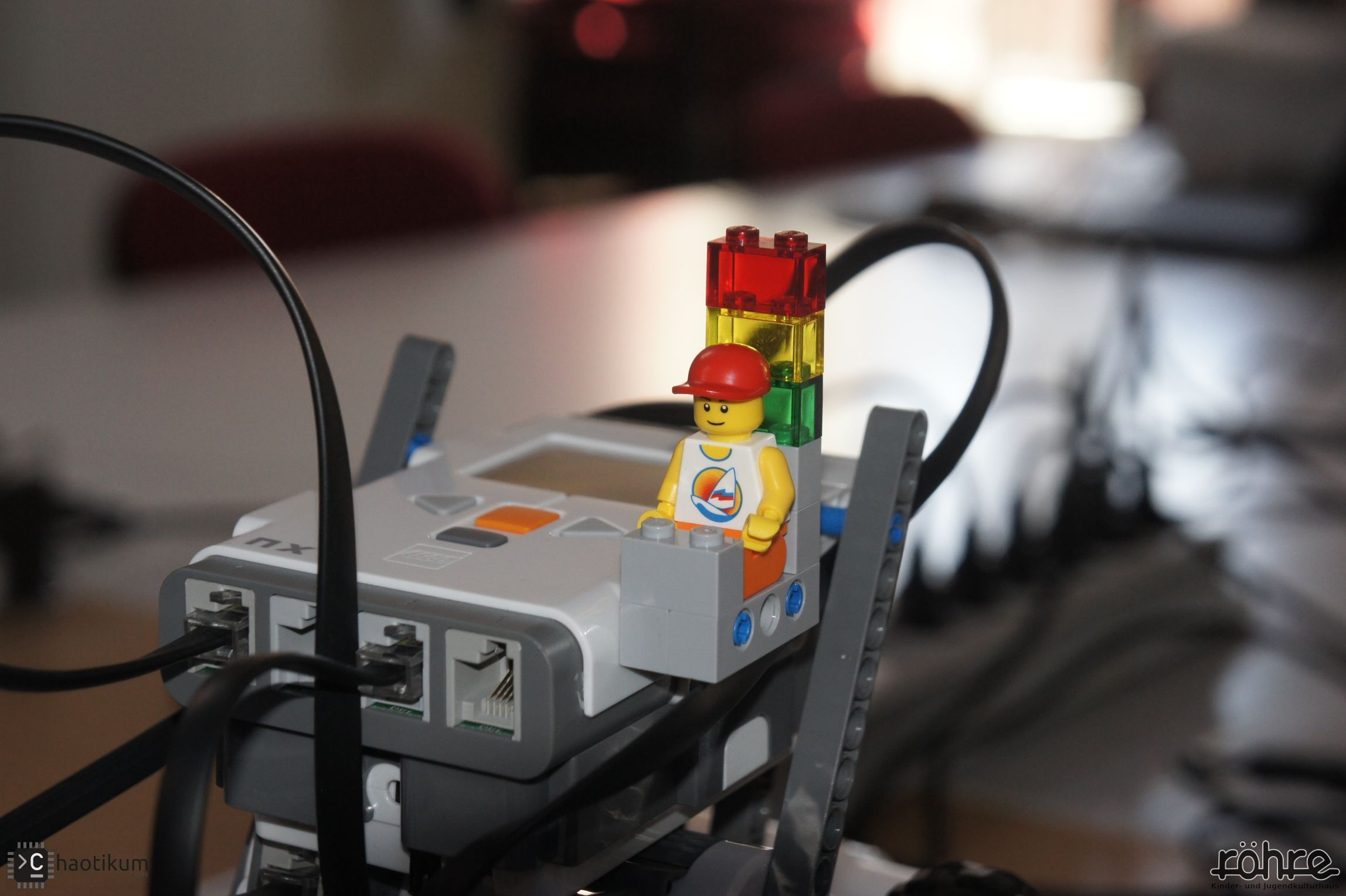 Ein Lego-Sumo Fahrer.