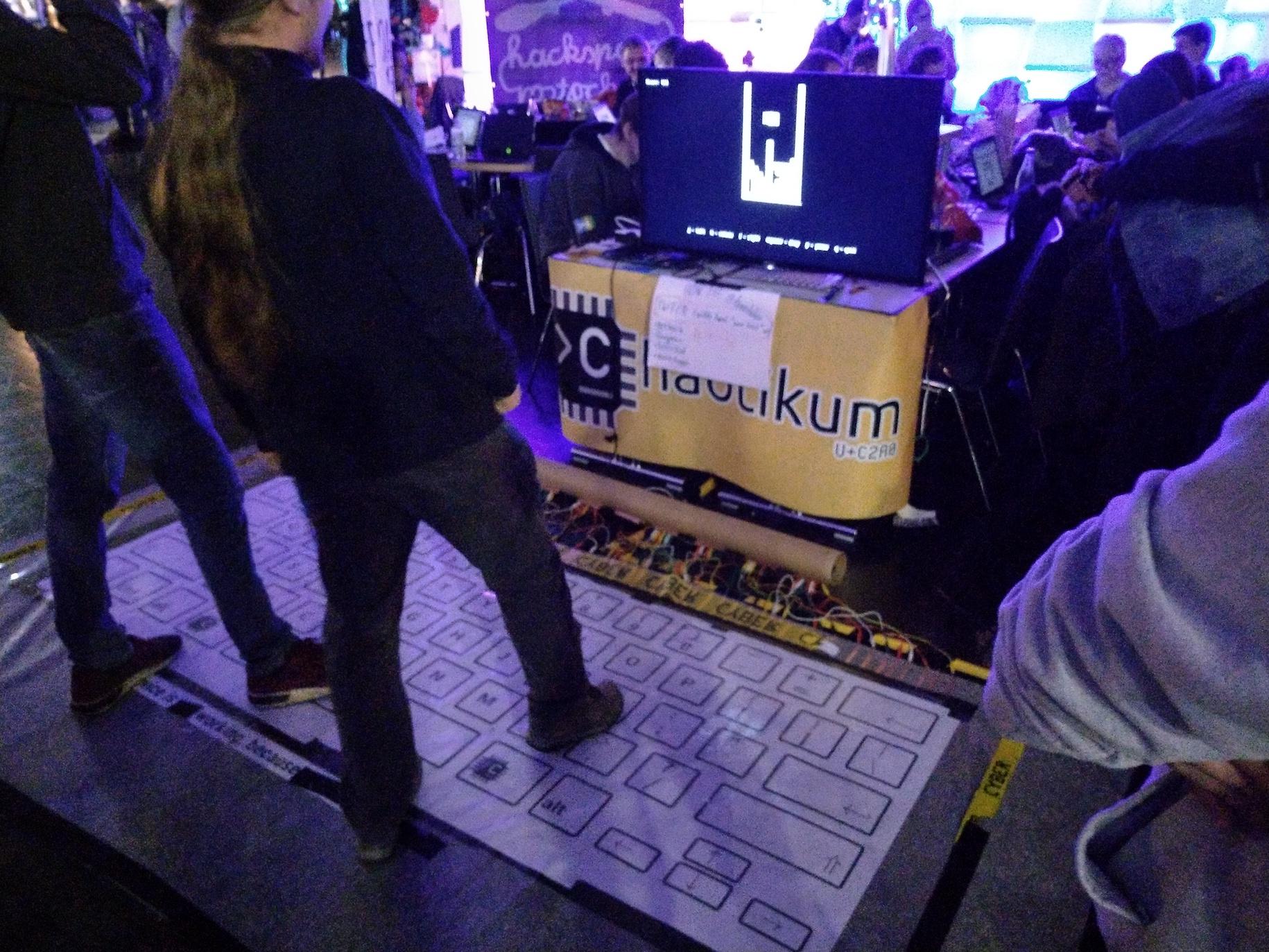 Die Tanztatur aufgebaut auf dem Chaos Communication Congress (34C3) in Leipzig